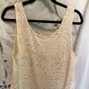 JCrew sequin tank top. Lg